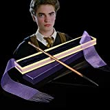 Harry Potter De 14 Pulgadas Anime Que Rodea La Varita Mágica Halloween Cos Muestra Metal Core Magic Wand Wire Tapa Dura con Caja,Cedric diggory