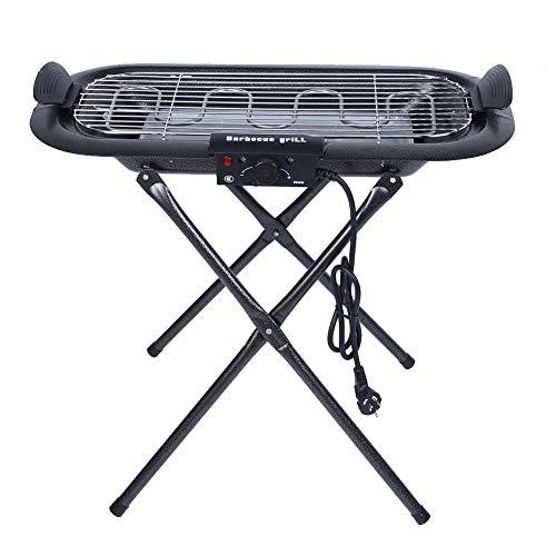 Grill Barbecue,Standgrill Barbecue Mit Stative 2000W Elektrischer BBQ Grill BBQ Tragbarer Klappgrill,Perfekte Grillplatte für Camping im Freien oder Grillen
