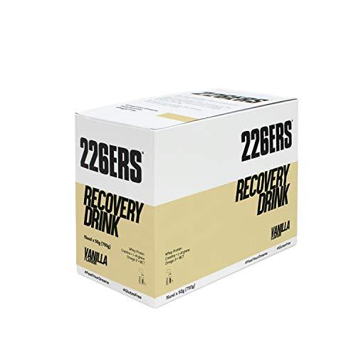 226ERS Recovery Drink Monodosis, Recuperador Muscular con Proteína, Creatina, Hidratos de Carbono, Triglicéridos y L-Arginina, Vainilla - 15 unidades x 50 gr