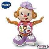 VTech - Titi Ouistiti – singe interactif – jouet singe – jouet bebe 12/36 mois – rose
