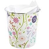 JVL plásticos Modernos Stripes/Spots/círculos Retro de la Flor Que se arrastra de la Flor de residuos de Papel Bin Cesta, Multicolor