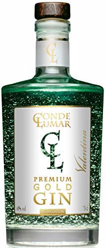 Gin Valentina - Premium Liqueur Gold 23k - Lima y Frutas Cítricas del Mediterráneo - Gin Tonic Para Regalar - 15 Botánicos 5 Destilaciones - Botella y Certificado del Oro Sin Caja de Regalo