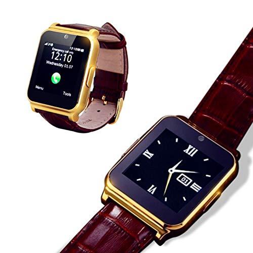 KawKaw W90 Smartwatch mit Lederarmband, 1,3 MP Kamera und 1,54 Zoll Farbdisplay