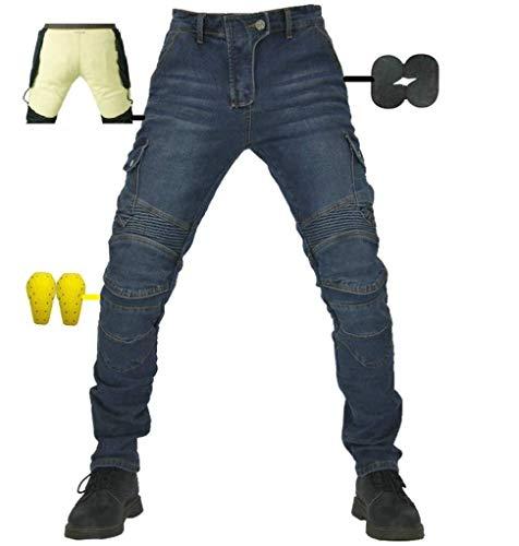 Pantalones vaqueros para hombre de kevlar con armadura