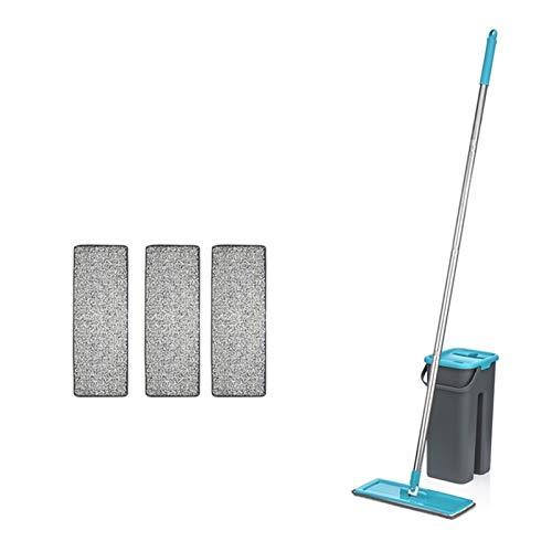 Nuevo Mop plano automático Evite el lavado de la mano Limpieza de la limpieza de la fibra ultrafina de la cocina Cocina de la casa Piso de madera Pequeño compañero Mopas deslizadores Mops Mopsy Cubos