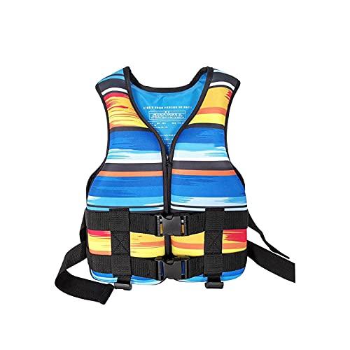 Schwimmweste, Erwachsene & Kinder Life Jackets, Verstellbare Wasserrettung Schwimmweste Unisex Tauchtraining Rettungsweste für Boote Wassersport Ausbildung Schnelltrocknend (Kinder Blau | <50kg)