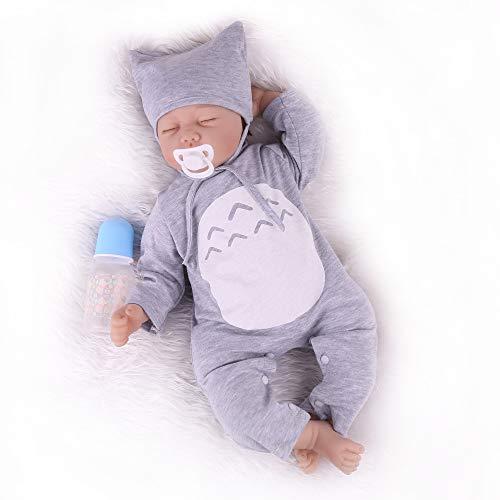 Reborn Baby Dolls 22 inch Lifelike Sleeping Baby Doll Soft Silicone Weighted Realistic Newborn Dolls Toy Gift Set