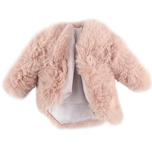 linjunddd Fashion Coat Plüsch-Mantel Windjacke Lässige Kleidung Anzug Spielzeug-zubehör Für Barbie-Puppe 29cm Rosa Komfortable Versorgung