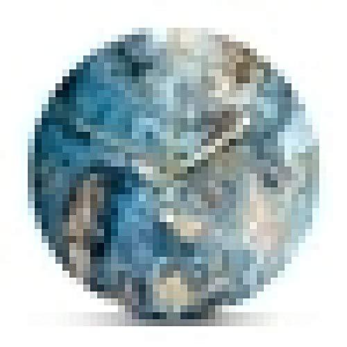 Reloj de Pared Estructura de Cristales de ónix Reloj de Pared Impreso Textura de mármol Obra de Arte Movimiento silencioso Reloj de Pared Curación metafísica Reloj de Arte de Pared