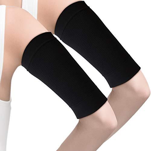 4 Paare Abnehmen Arm Ärmel Arm Elastische Kompression Arm Shaper Sport Fitness Arm Shaper für Damen Mädchen Gewichtsverlust (Schwarz)