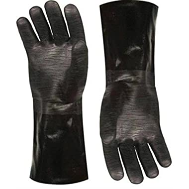 Insulated waterproof/oil & heat resistant BBQ, Smoker, Grill, and Cooking Gloves. Great for barbecue & grilling -excellent gift -1 pair (13 Inch)
