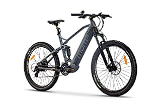 "Moma Bikes Bicicleta Eléctrica E-MTB 27.5"" Full Suspension, Shimano 24vel, frenos hidráulicos, batería Litio 48V 13Ah (624Wh) (B07WTJ9CHT) 