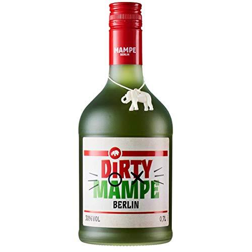 Dirty Mampe - Mate-Rum | Schnaps aus weißem afrikanischen Rum & getrockneten Mate-Blättern | Berlins älteste Spirituosenmanufaktur – Tradition seit mehr als 160 Jahren | 0.7 Liter | 30% Vol