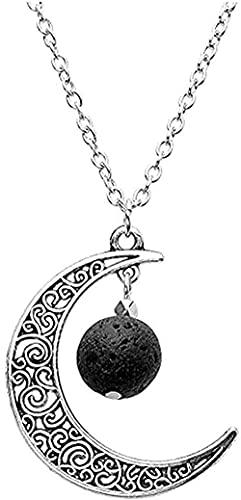 Collares Colgante Luna Collar Vintage Colgante Cuarzo Piedra Natural Collares irregulares Cristales Canales de bronce antiguo multicolor Joyas Regalos Collar (Color de metal: 3) Vulcain S Regalos