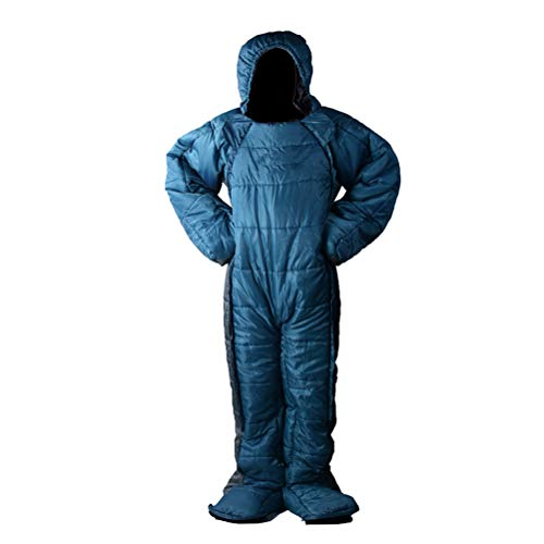 Wing Enterprises Adult Wearable Sleeping Bag Suit for Camping, Standing 3 Season Full Body Sleeping Wear for Travel Outdoor Hiking,Human Shaped,Zipper Design,M