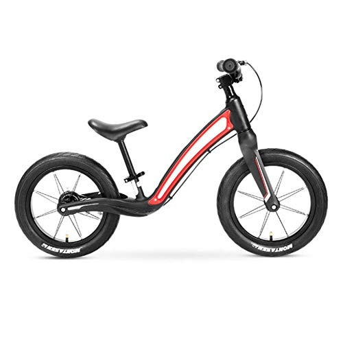 HEWEI Balance Bike for 3-5 Years Kids Bike 14 inch Lightweight no-Pedal Toddlers Balance Bike Light Pneumatic Tires wear and Shock Absorption red