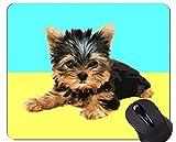 Yanteng Almohadillas para ratón, Alfombrilla para Juegos, Arte Simple para Perros, Bordes cosidos