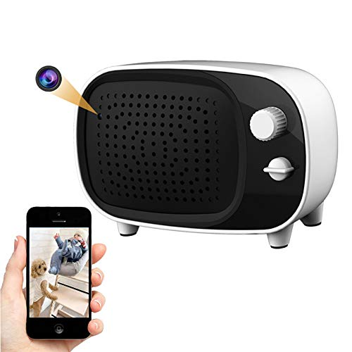 Spy-Camera-WiFi-Hidden-Camera-Bluetooth-Speaker, 1080P Nanny/Child/Pet Cam with Motion Detection Alert, 7/24 Remote Monitoring for Indoor Security by Amzcev