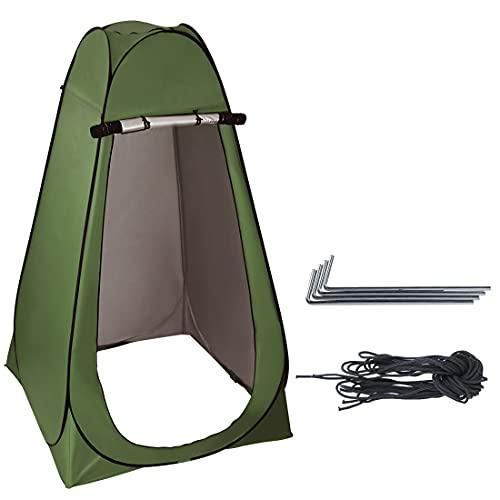 Fitprobo Pop up Umkleidezelt Toilettenzelt, Camping Duschzelt Mobile Outdoor Privatsphäre WC Zelt Lagerzelt, Tragbar mit Fenster