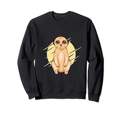 Lindo diseño animal con una ilustración de un suricato bebé Sudadera