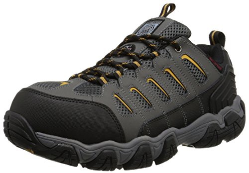 Skechers for Work Men's Blais Hiking Shoe, Dark Gray, 10.5 M US