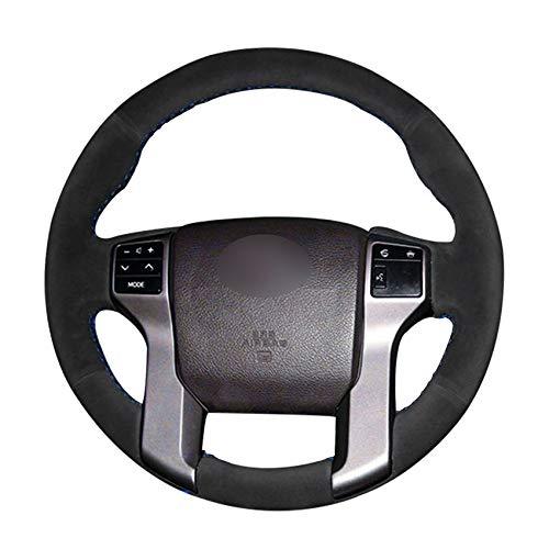 SBCX HandgenähteLeder Auto Lenkradabdeckung für Toyota Land Cruiser Prado 2010-2017 für Tundra 2014-2019 für Tacoma 2012-2019-Light Gewinde