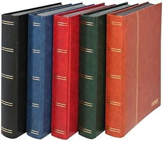 LINDNER Stamp Stockbook- Black Cover- 60 White Pages- Glassine Strips- Double Glassine Interleaving