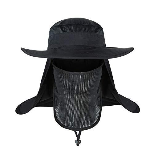 wopiaol Sombrero al Aire Libre de 360 Grados para Hombre, Protector Solar de Verano, Sombrero para Hombre, Impermeable y Anti-Ultravioleta, Sombrero de Pesca para Pescador, Hombre