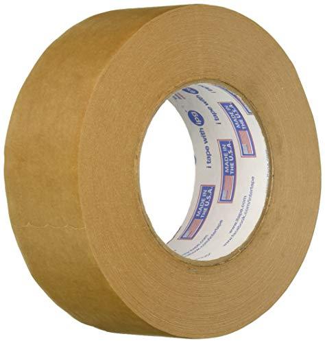 Intertape 9341 1.88in. x 60yds Kraft Paper Flatback Carton Sealing Tape, Natural (12 Pack)