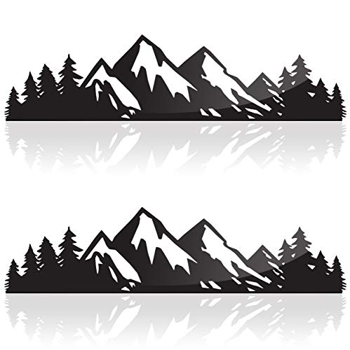 Camping Stickers, Mountain Stickers Outdoor Stickers or Adventure Stickers, 7 Inches, Hiking Sticker or Mountain Decal Bumper Sticker or Outdoor Sticker Pack (Two Pack)