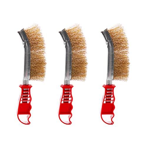 Set di spazzole metalliche da 3 pezzi Set di spazzole metalliche manuali...