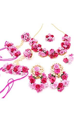 sarthak fashion jewellery Non-Precious Metal and Pearl Flower Jewellery Set for Women...