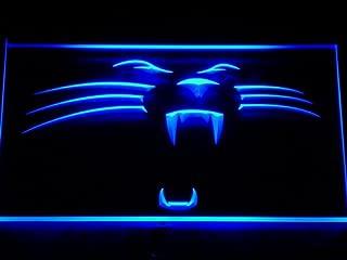 TeroLED Carolina Panthers Panther 60cm x 40cm Led 3D Engraved Neon Sign Blue