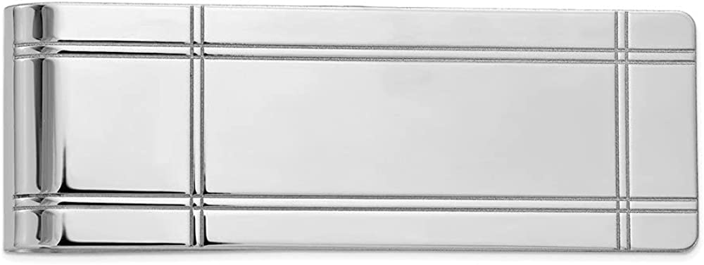 Finejewelers 14 kt White Gold Money Clip 54 mm x 20 mm