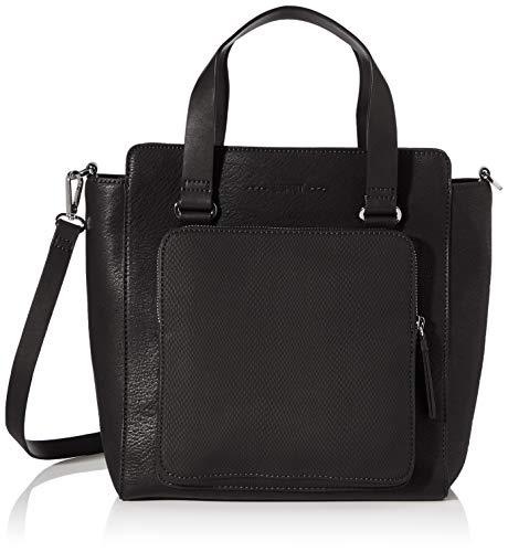 Esprit Accessoires Damen Naomi_citybag Henkeltasche, Schwarz (Black), 13x29x26,5 cm