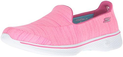 Skechers Go Walk 4 Satisfy, Zapatillas de Entrenamiento para Mujer, Rosa (Hot Pink), 39 EU