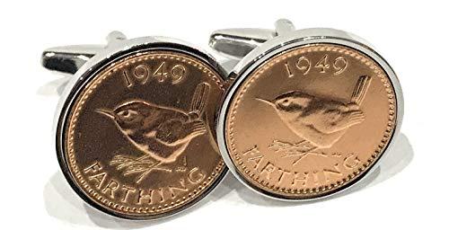 Premium 1945 Farthing cufflinks for a 75th Birthday cufflinks 1945 Premium Farthing Slv