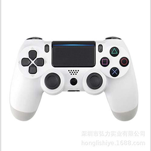 QWER Controlador De Juego Inalámbrico, Controlador Inalámbrico Ps4 Bluetooth 4.0 Doble Impacto Mango Joystick Mando Game Board para Ps4 Ps3 Doble Ventana De Control De Impacto