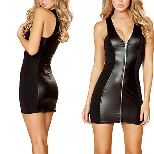 Leggins Y Prendas De Látex Lencería Sexy Vestido De Fiesta De Pvc De Látex Negro Lencería...