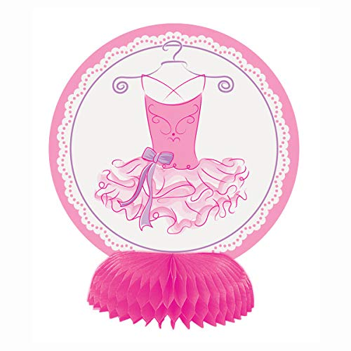 Mini Pink Ballerina party decoraties, 4 stuks
