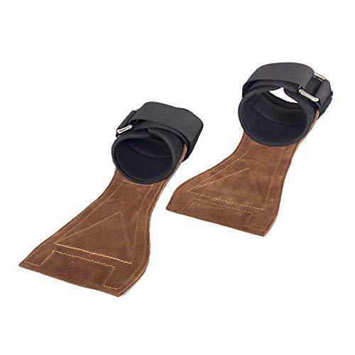 Minear Levantamiento de pesas en la muñeca Heavy Duty Metal Lifting Steel Ganchos Set Premium grueso acolchado Workout Pesas pulseras para levantar