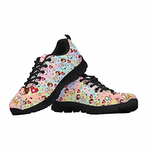 chaqlin Zapatillas de correr para hombre de mujer,Zapatillas de malla ligera,Mocasines deportivos transpirables para caminar, color Beige, talla 43 EU