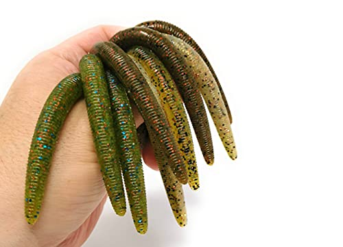 """#2710 Best Fishing Soft Baits Kits Plastic (D: 36 of Pack 5.5"""" Senkos at Three Colors, Soft Lures)"""