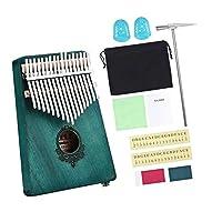 17キーカリンバサムピアノフィンガーピアノムビラチューニングハンマー付き楽器、学習ガイド、収納袋、クリーニングクロス、ステッカー - カラー2