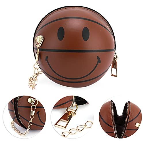 Bolso de mano naranja, elegante bolso de baloncesto para niñas, duradero para viajar(brown)