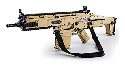 RSWLY Bloques de construcción de pistola Técnica Molde King 14004, 563 piezas Spotable Desert Eagle Pistol con balas Conjunto de edificios militares, compatible con (Color : Cada C81021w)