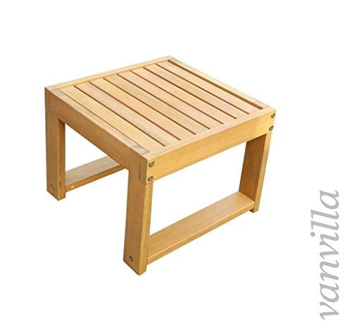 vanvilla vanvilla Beistelltisch Gartentisch Holztisch Tisch Holz