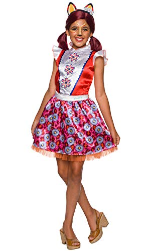 Enchantimals - Disfraz de Felicity Fox para niña, Talla 3-4 años (Rubies 641212-S)