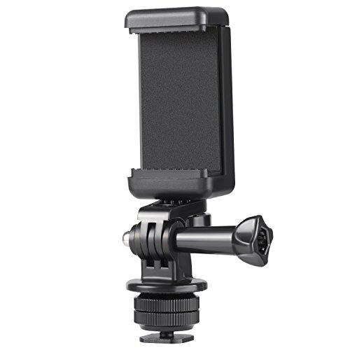 Neewer Kit Adaptador 3 en 1 Para Cámaras DSLR, Incluye Soporte de Zapata, Adaptador Gopro y Soporte Universal Para Teléfono Móvil o Gopro Hero 7 6 5