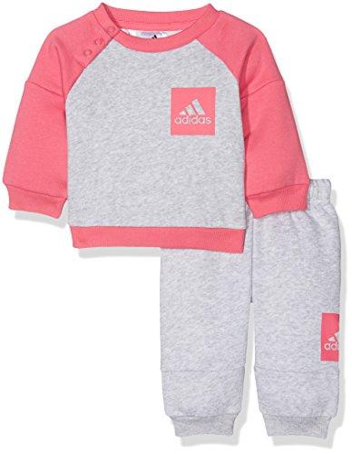 adidas adidas I Sp Fleece Jog, Sweatshirt Unisex Kinder, I Sp Fleece Jog, Grigio (Grigio/Rosa), 92